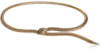 Roberto Cavalli Snake Metal Necklace