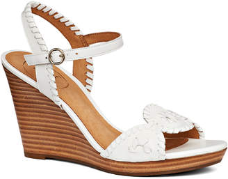 Jack Rogers Clare Wedge Leather Sandal