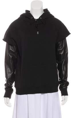 Saint Laurent Hooded Long Sleeve Sweatshirt