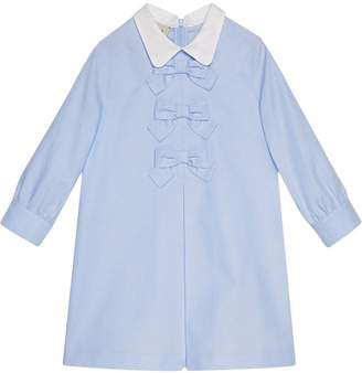 Gucci Kids Children's cotton dress with bows
