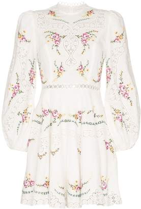 Zimmermann Allia floral print mini dress