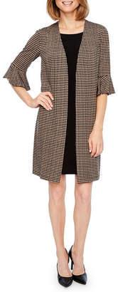 Perceptions Short Bell Sleeve Faux Jacket Dress