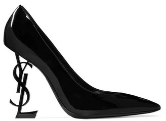 Saint Laurent - Opyum Patent-leather Pumps - Black $995 thestylecure.com