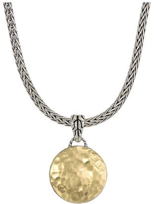 John Hardy Dot Hammered Reversible Pendant Necklace Necklace
