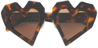 MAISON KITSUNÉ oversized heart-shaped sunglasses