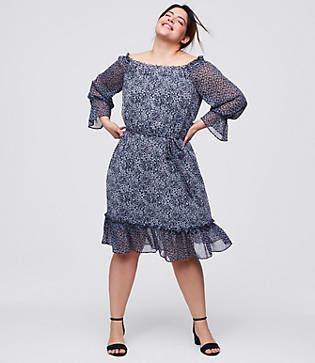 LOFT Plus Blossomed Tassel Dress