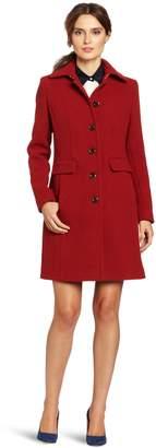 Calvin Klein Women's Mid-Length Single Breasted Wool Coat