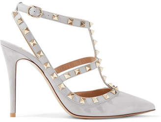Valentino Garavani The Rockstud Suede Pumps - Gray