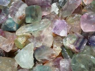 FANTASIA Materials: 1 lb Rainbow Fluorite Rough - (Select 1 to 18 lbs) - Raw Natural Crystals for Cabbing