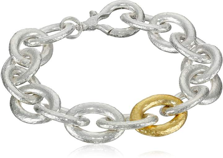 "Gurhan Galahad"" Sterling Medium Oval Link Bracelet"