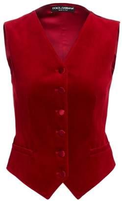 Dolce & Gabbana Velvet Vest