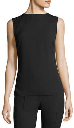 Helmut Lang High-Neck Square-Back Sleeveless Top