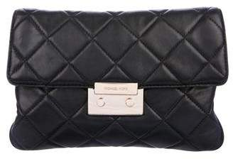 Michael Kors Quilted Leather Clutch