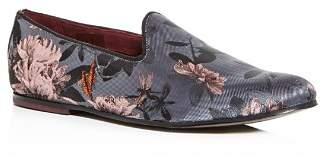 Ted Baker Men's Vihan Floral Jacquard Smoking Slippers