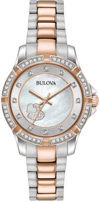 Bulova Women's Two-Tone Stainless Steel Bracelet Watch 30mm 98L233 $350 thestylecure.com