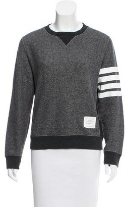 Thom Browne Striped Crew Neck Sweatshirt $295 thestylecure.com