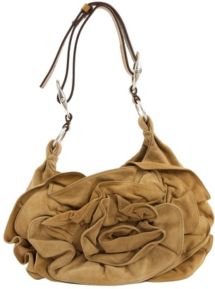 Saint Laurent Khaki Suede Handbag