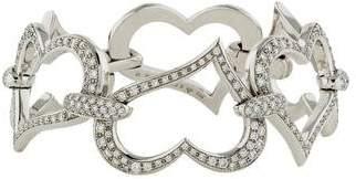 Piaget 18K Diamond Pavé Heart Link Bracelet