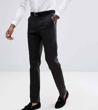 Asos Tall Slim Tuxedo Suit Pants In Black