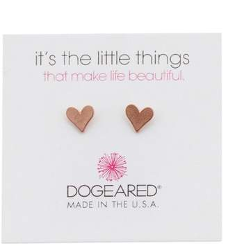 Dogeared Its the Little Things Heart Stud Earrings