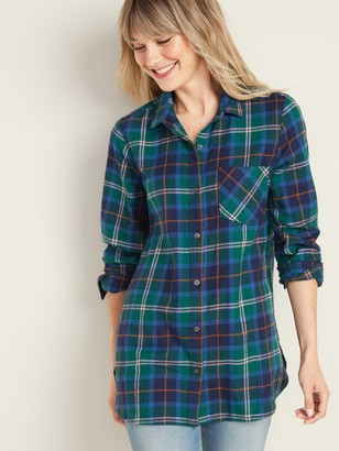 Old Navy Patterned Flannel Tunic Shirt for Women