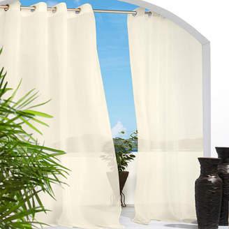 Asstd National Brand Escape Solid Grommet-Top Outdoor Curtain Panel