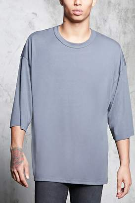 Forever 21 Crew Neck Dropped-Sleeve Tee