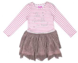 Nannette Long Sleeve Sparkle Top & Lurex Mesh Tutu Skirt Dress (Toddler Girls)