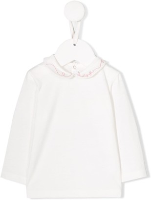 Il Gufo logo embroidery shirt