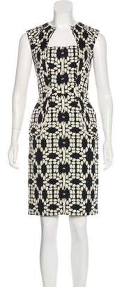 Lela Rose Printed Sheath Dress