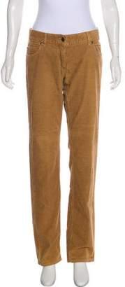 Burberry Corduroy Mid-Rise Pants