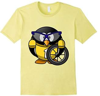 Original Penguin Cyclist Cartoon with glasses and wheel T-Shirt
