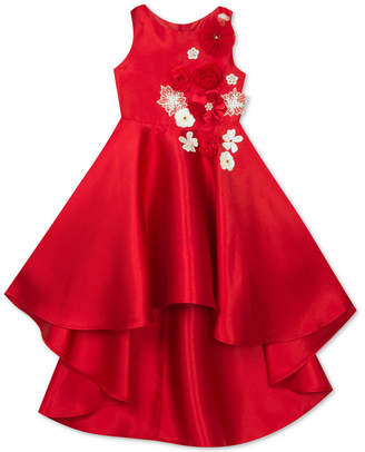 Rare Editions Little Girls Embellished Mikado Dress