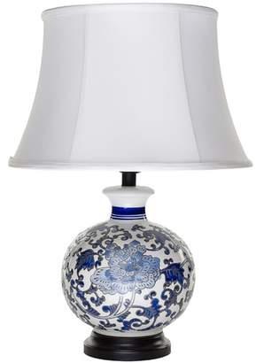White & Blue Monsieur Ceramic Table Lamp