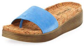 Donald J Pliner Fiji Suede Cork Slide Sandal
