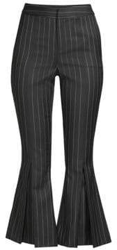 Frame Pinstriped Flared Cropped Pants