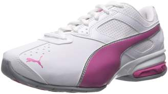 Puma Women's Tazon 6 WN's fm Cross-Trainer Shoe, Black Silver/Beetroot Purple