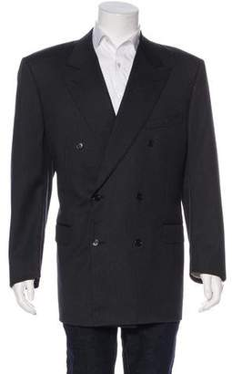 Canali Double-Breasted Striped Virgin Wool Blazer