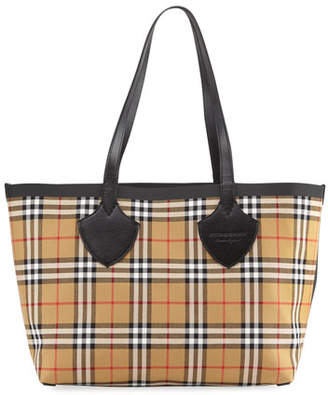 Burberry Reversible Canvas Check Medium Tote Bag