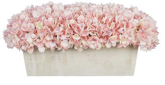 House of Silk Flowers Faux Hydrangeas in Whitewashed Wood Box