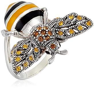 Bumble Bee Sterling Silver Marcasite Ring