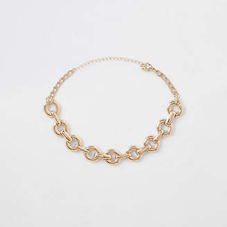 River Island Gold tone chunky chain choker