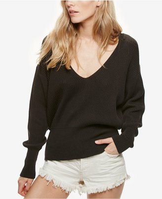 Free People Allure V-Neck Pullover Sweater $98 thestylecure.com