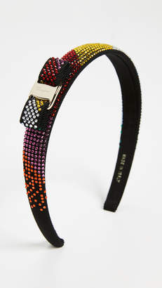 Salvatore Ferragamo Crystal Rainbow Headband