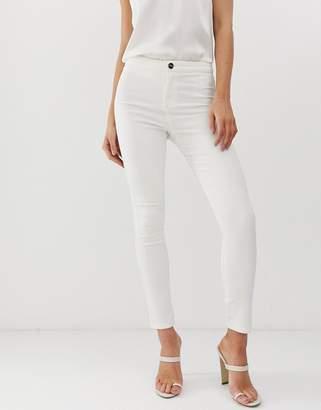 Lipsy skinny jeans in white