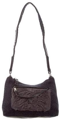 Prada Wool & Fur Bag