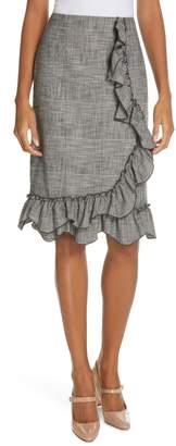 Rebecca Taylor Plaid Ruffle Skirt