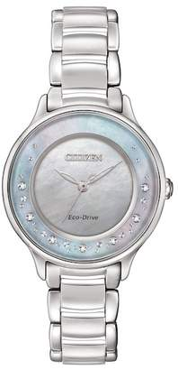 Citizen Women's Eco-Drive Stainless Mother of Pearl Bracelet Watch, 30mm - 0.008 ctw