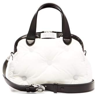 Maison Margiela Glam Slam Quilted Bowling Bag - Womens - Black White