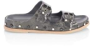 Stuart Weitzman Sandbar Leather Sandals